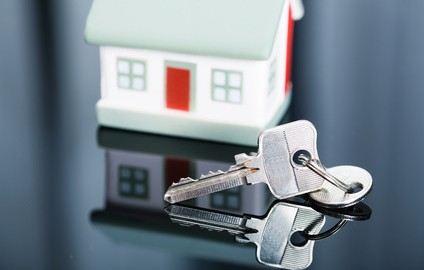 Keys with house in background