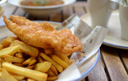 British food fish and chips