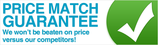 Price match guarantee - we won't be beaten on price versus our competitors